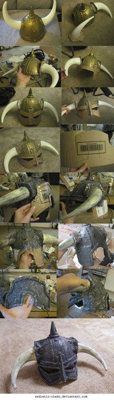 Skyrim Helmet Progress by Sadistic-Otaku.deviantart.com: