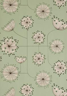 Same Dandelion Wallpaper from Missprint.co.uk in Mist Green :)