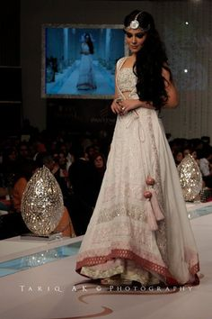 Go white for the wedding? Love the bottom of this beautiful indian outfit
