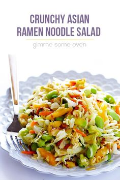 This updated Crunchy Asian Ramen Noodle Salad recipe takes just minutes to make…