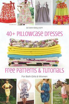 40+ Pillowcase Dresses Free Patterns and Tutorials http://so-sew-easy.com/pillowcase-dresses-free-patterns-roundup/?utm_campaign=coschedule&utm_source=pinterest&utm_medium=So%20Sew%20Easy&utm_content=40%2B%20Pillowcase%20Dresses%20Free%20Patterns%20and%20Tutorials