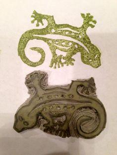 Gecko carved by Ryan Heywood