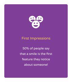 """Orthodontic Fact #41 """"El 50% de la gente cree que la sonrisa es la primera impresión que tenemos de alguien!"""""""