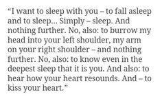 i want to sleep with you.