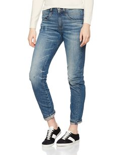 G-Star Raw Women's Arc 3d Low Boyfriend Jeans in Tobe Denim, Medium Aged, 29