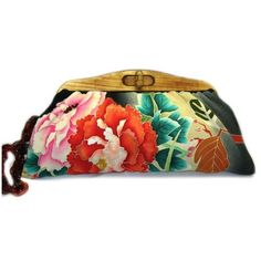 Uroco KImono Clutch-Antique Red Peonies found on Polyvore