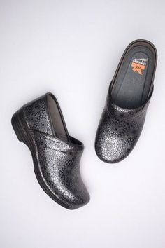 eba97958a1a6 Pro XP Black Medallion Embossed Patent from the XP Clog. Nancy Marler ·  Comfort Shoes