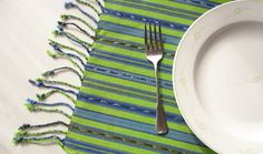 Handwoven Placemats Set 4 Fair Trade Lime by EducationAndMore, $30.00 Our Fair Trade handwoven place mats come in a set of 4 and are a wonderful heavyweight weaving that was hand loomed on a foot pedal loom. Such a tribal feel but yet at the same time such a modern look to them! Use them around the house for placemats, center of the table decor, end table cloth, decor for your next fiesta, fingertip towels, dish towels and more.