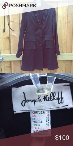 Black trench coat /Joseph ribkoff Used once Jackets & Coats