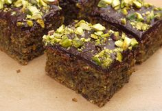 chocolate pistachio squares: the little loaf