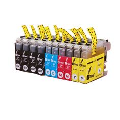 iTinte Compatible Brother LC201 XL Ink Cartridges (4 Black, 2 Cyan, 2 Magenta, 2 Yellow) 10 Pack