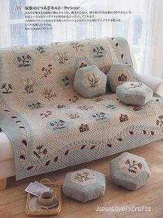 Everyday patchwork Quilt by Yuriko Arioka