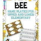 If you are doing the bee theme, this resource will be sure to brighten your classroom! It contains: * 5 differently themed name plates for lower el...