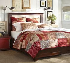 Cynthia Upholstered Storage Bed | Pottery Barn - Lovely! I want a storage bed so bad! one day...