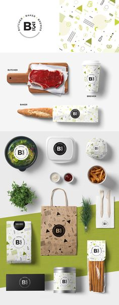Restaurant / Cafe Branding, Packaging  Branding and packaging for B3 | Butcher × Baker × Brewer which is a restaurant managed of Les Roches Global Hospitality Education, Switzerland.  https://www.behance.net/gallery/47507279/B3-Butcher-Baker-Brewer