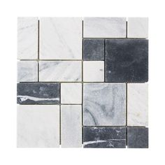 Jeffrey Court Carrara Block 12 in. x 12 in. x 8 mm Marble Mosaic Floor/Wall Tile-99051 - The Home Depot