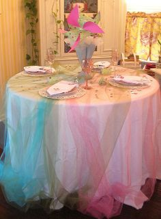 Tulle tableclothes