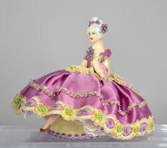 Stunning Jane Seated Porcelain Pincushion Half Doll | eBay