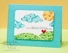 Adore this card by Jennifer McGuire using Simon Says Stamp Exclusives. September 2013
