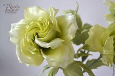 Silk flowers. Розы из шелка. Handmade. Цветы ручной работы Оксаны Чистовой. Ярмарка Мастеров - ручная работа.