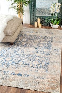 Vintage Decor Living Room Rugs USA Blue Silky Road Muted Floral Design rug - Traditional Rectangle x - Rugs USA Blue Silky Road Muted Floral Design rug - Traditional Rectangle x Rugs In Living Room, Living Room Designs, Living Room Decor, Beige Carpet Living Room, Dining Rooms, Agave Azul, Decoration Inspiration, Rugs Usa, Patterned Carpet
