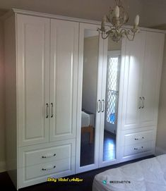 Gorgeous traditional white painted Built in Wardrobe Elegance and style combined with practical function Alliance Robes Bedroom Built In Wardrobe, Bedroom Built Ins, Living Room Partition Design, Room Partition Designs, Wardrobe Door Designs, Built In Robes, Room Design Bedroom, Diy Home Repair, Home Interior Design