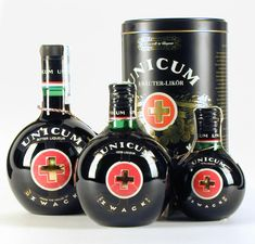 zwack unicum - Unicum is a special, bitter, alcoholic liquer made of herbs and spices that Hungarians swear by as an aid to digestion, among many other things.