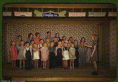 School children singing, Pie Town, New Mexico 1943