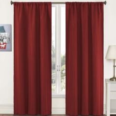 Pairs to Go Capella Woven Solid Rod-Pocket Curtain Panel Pair  found at @JCPenney  In Purple :)