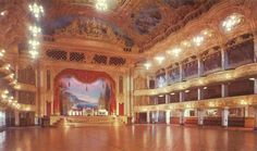 England. Blackpool Tower Ballroom in 1958 after its restoration following the fire in December 1956.