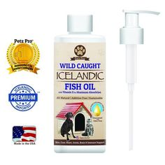 Wild Icelandic Fish Oil for Dogs and Cats, Omega-3 Liquid Food Supplement, Has Vitamin E Formula, EPA, and DHA Fatty Acids, 16 FL OZ, By Petz Pro >>> See this great product.