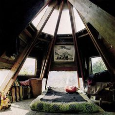 teepee interior  I want to build a self-sustaining house like this. Off the Grid!