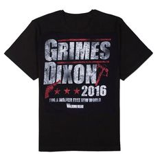 The Walking Dead Grimes Dixon 2016 Adult T-shirt (Large): Vote Grimes / Dixon in 2016 For a Walker Free World. Black adult t-shirt. Walking Dead Gifts, Walking Dead T Shirts, The Walking Dead, Cheap T Shirts, Casual T Shirts, Cool Shirts, Men Casual, Football Shirts, Branded T Shirts