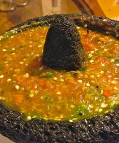 Mexican Recipes This salsa molcajeteada combines pan roasted tomatoes, garlic, and peppers to ma… Authentic Mexican Recipes, Mexican Salsa Recipes, Mexican Dishes, Hot Sauce Recipes, Easy Soup Recipes, Cooking Recipes, Pork Recipes, Cooking Tips, Recipies
