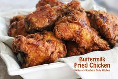 Buttermilk brined Southern Buttermilk Fried Chicken is tender, moist and finger licking good.