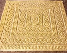 Crochet Afghan Patterns Blanket was made with Caron One Pound Crochet For Beginners Blanket, Crochet Patterns For Beginners, Knitting For Beginners, Crochet Bobble, Bead Crochet, Crochet Rug Patterns, Afghan Crochet Patterns, Crochet Afghans, Crochet Blankets