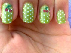 Polka dot nails art has become very popular lately. This type of nail art is easy, fun and looks great. Another wonderful thing about polka dot nails Crazy Nails, Love Nails, Fun Nails, Dream Nails, Gorgeous Nails, Beautiful Nail Designs, Cool Nail Designs, Polka Dot Nails, Polka Dots