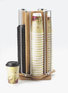 Cal-Mil 1468 Bamboo and Wire Revolving Cup/Lid Organizer from Cal Mil Black Friday Cyber Monday Coffee Carts, Coffee Truck, Coffee Shops, Coffee Shop Design, Cafe Design, Best Coffee, Coffee Time, Coffee Coffee, Drip Coffee