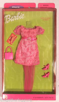 New Fashion Avenue Barbie Charm Party in Pink Fashion Doll Clothes 1999 | eBay