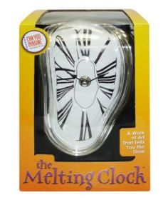 The Can You Imagine Melting Clock is both a conversation starter and a precision timepiece in one. The melting clock illustrates that time is fluid in an 23200 entert Melting Clock, Frame Shelf, Internet, Latest Gadgets, Telling Time, Geek Gifts, Novelty Gifts, Novelty Items, White Elephant Gifts
