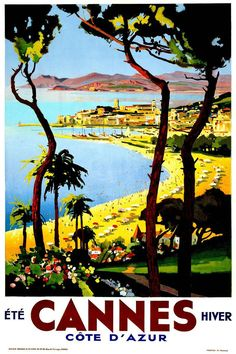 Cannes Travel Poster.