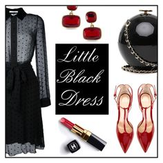 """""""Little Black Dress"""" by mrs-polinakorol ❤ liked on Polyvore featuring Givenchy, Chanel, Lauren Ralph Lauren and Gianvito Rossi"""