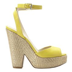 Yellow Wedge from Nine west