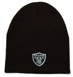 NFL Beanie Oakland Raiders- Short Beanie Black by Reebok. $11.23. One size fits most!!. wool-blend. Softly layered for warmth. Keep your head warm this winter with our stylish, unisex, winter beanie.