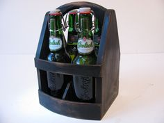 Beer bottle carrier.