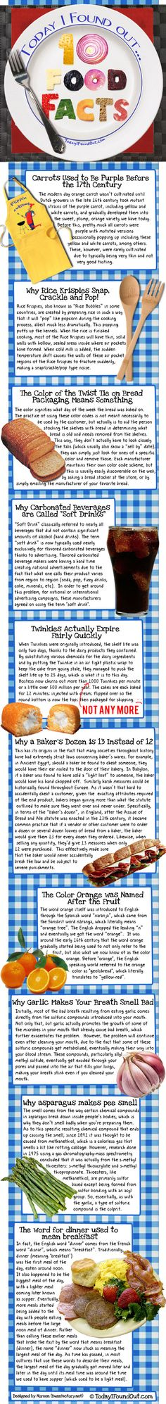 10 food facts.