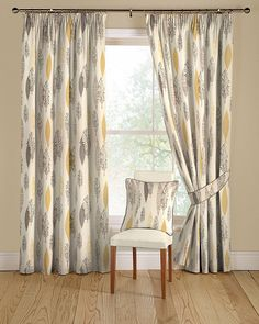 Lupin 03 Gold And Grey Curtains