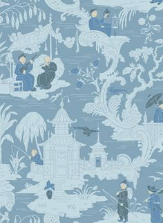 Tapete Chinese Toile von Cole