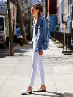 How To Wear An Oversized Denim Jacket