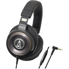 Audio-Technica - Solid Bass ATH-WS1100IS Hands-Free Headset - Black, AUD ATHWS1100IS